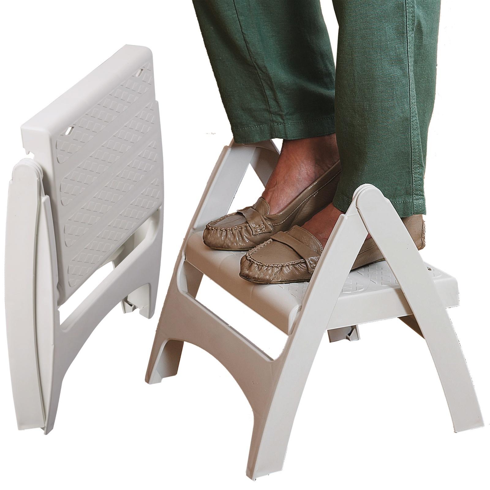 Swell Details About Portable Folding Step Stool Anti Slip Folds Flat Lightweight 120Kg Capacity Evergreenethics Interior Chair Design Evergreenethicsorg