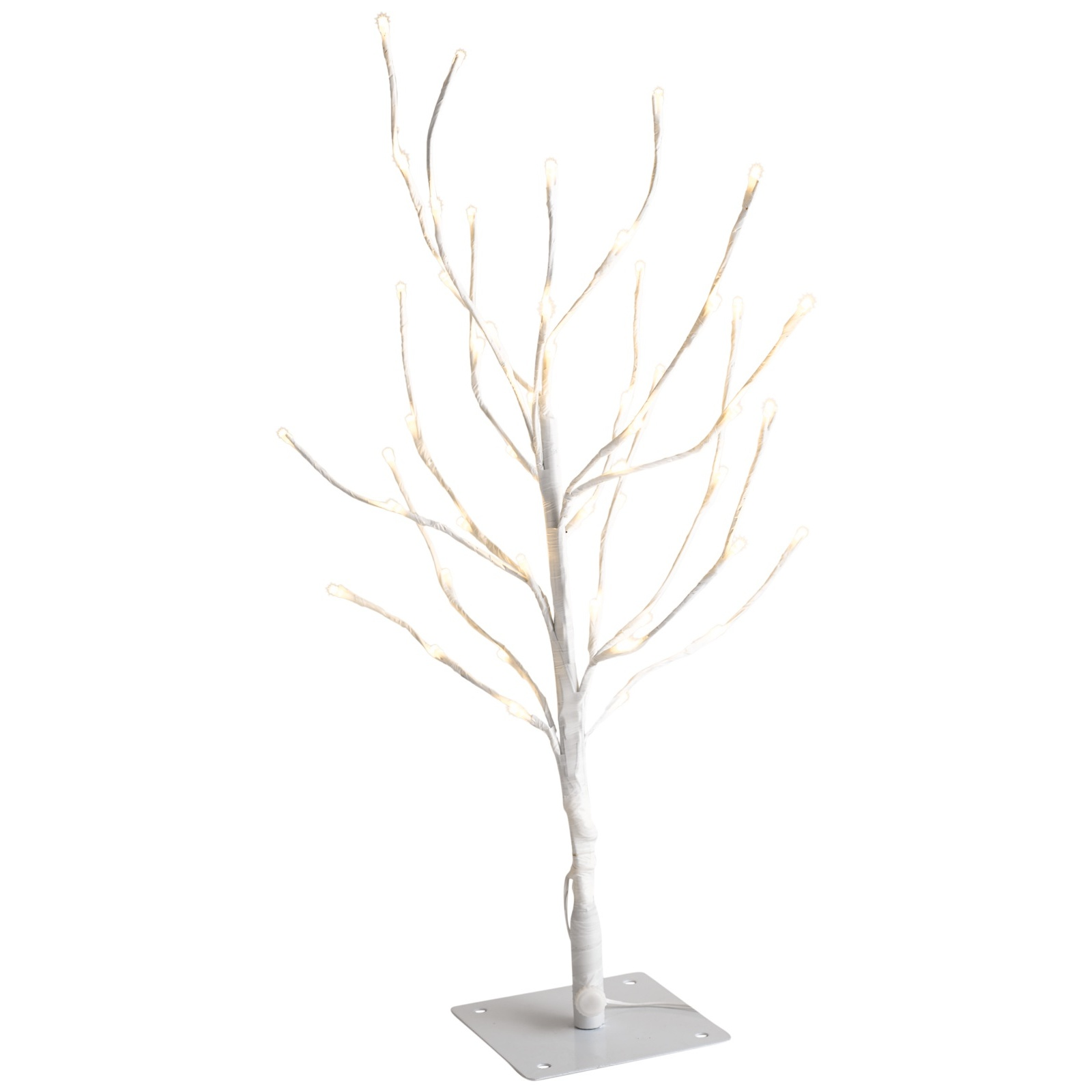 on sale 9f0ca 0b62a Details about White Twig Tree Branch Warm White LED Lights Christmas Tree  Decoration 55cm